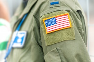 USA Flag on Military Person