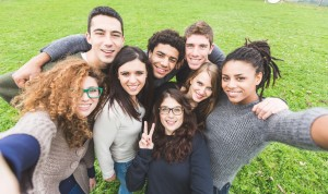 Multiethnic Group of Friends