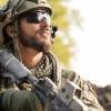 Portrait of American Soldier looking away