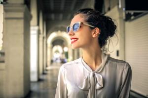 Fashionable Woman Walking